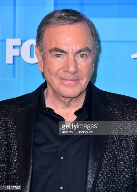Singer Neil Diamond poses in the press room during Fox's American Idol 2012 Finale Results Show at Nokia Theatre LA Live on May 23 2012 in Los...