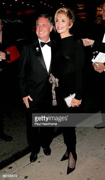 Singer Neil Sedaka and his wife Leba Sedaka attend the play opening night of Jersey Boys at the August Wilson Theater November 6 2005 in New York City