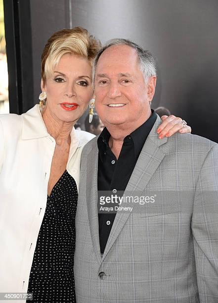 Singer Neil Sedaka and Leba Strassberg attend the closing night film premiere of Jersey Boys during the 2014 Los Angeles Film Festival at Premiere...