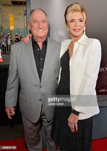 Singer Neil Sedaka and Leba Strassberg attend the premiere of Warner Bros Pictures' Jersey Boys during the 2014 Los Angeles Film Festival at Regal...