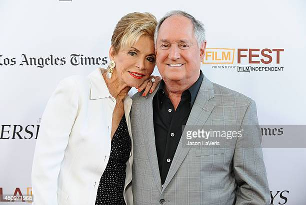 Singer Neil Sedaka and wife Leba Strassberg attend the 2014 Los Angeles Film Festival closing night film premiere of Jersey Boys at Premiere House on...