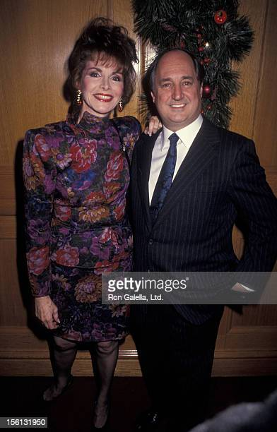 Singer Neil Sedaka and wife Leba Strassberg attending 80th Birthday Party for Joey Adams on January 7 1991 at the Helmsley Hotel in New York City New...