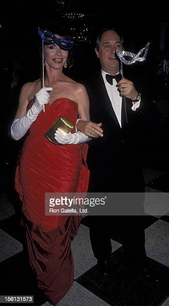 Singer Neil Sedaka and wife Leba Strassberg attending 'American Foundation for AIDS Masquerade Party' on November 30 1990 at the Waldorf Astoria...