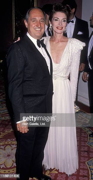 Singer Neil Sedaka and wife Leba Strassberg attending 'Artistic Achievement Awards Benefiting American Cancer Society' on May 31 1990 at the Plaza...