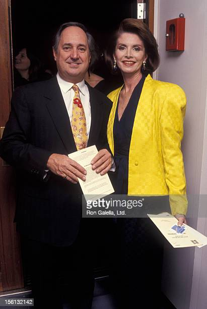 Singer Neil Sedaka and wife Leba Strassberg attending 'Club Med 1 Maiden Voyage to New York' on October 4 1991 at Pierr 88 in New York City New York