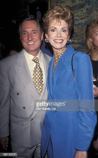 Singer Neil Sedaka and wife Leba Strassberg attending 'Designer Hat Benefit Auction Party Hosted by Ivana Trump' on May 10 1999 at Lucky Chasen's in...