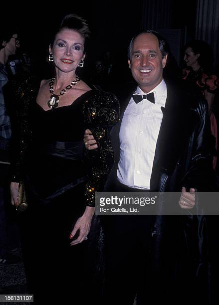 Singer Neil Sedaka and wife Leba Strassberg attending 'From Queen to EmpressVictorian Dress 18371877 Costume Exhibit' on December 5 1988 at the...