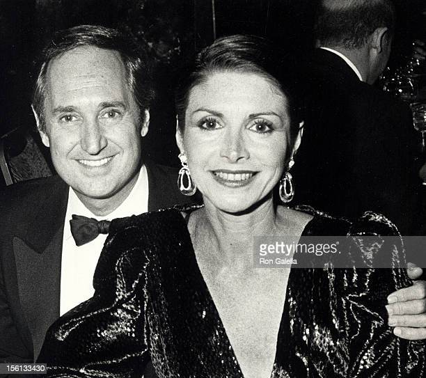 Singer Neil Sedaka and wife Leba Strassberg attending 'Gala Fundraising Party for Israel' on November 19 1984 at Regine's in New York City New York
