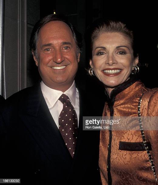 Singer Neil Sedaka and wife Leba Strassberg attending 'Grand Opening of Etro Boutique' on October 25 1996 in New York City New York