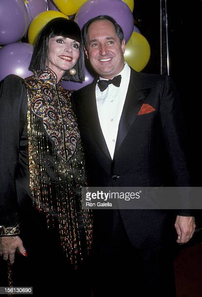 Singer Neil Sedaka and wife Leba Strassberg attending 'Halloween Party' on October 31 1985 at Regine's in New York City New York
