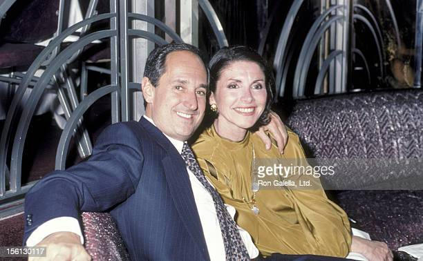 Singer Neil Sedaka and wife Leba Strassberg attending 'Party for Celebrity Tauruses' on May 14 1984 at Regine's in New York City New York