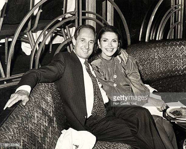 Singer Neil Sedaka and wife Leba Strassberg attending 'Taurus Party Hosteb by Arlene Dahl' on May 14 1984 at Regine's in New York City New York