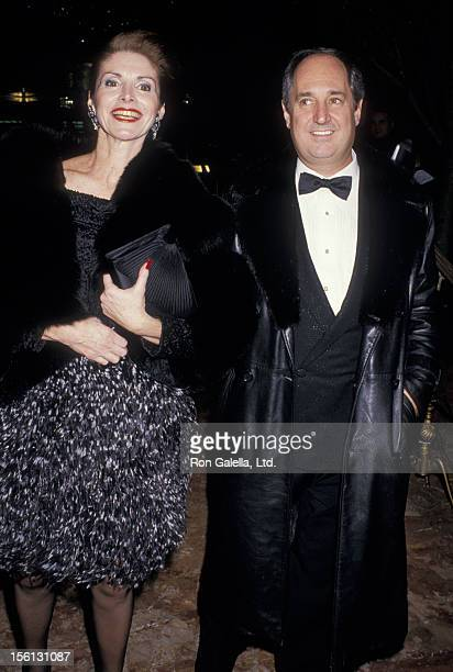 Singer Neil Sedaka and wife Leba Strassberg attending the book party for 'The Art of the Deal' on December 12 1987 at the Trump Towers in New York...