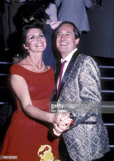 Singer Neil Sedaka and wife Leba Strassberg attending the premiere party for 'Grease II' on June 9 1984 at the Ziegfeld Theater in New York City New...