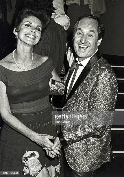 Singer Neil Sedaka and wife Leba Strassberg attending the premiere party for 'Grease II' on June 9 1982 at the Red Parrot in New York City New York