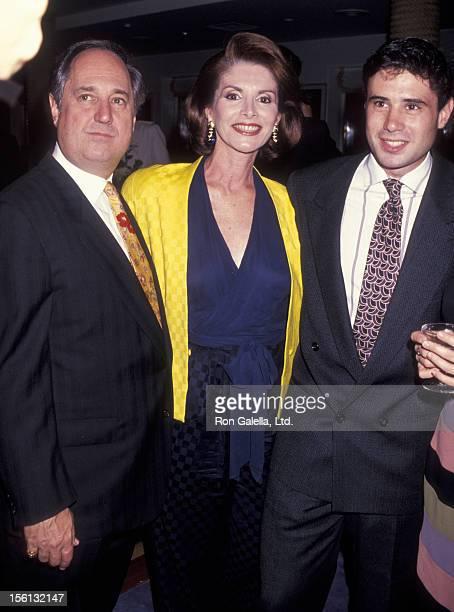 Singer Neil Sedaka, son Marc Sedaka and wife Leba Strassberg attending 'Club Med 1 Maiden Voyage to New York' on October 4, 1991 at Pierr 88 in New...
