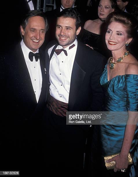 Singer Neil Sedaka, son March Sedaka and wife Leba Strassberg attending 'American Museum of the Moving Image Gala Honoring Steven Spielberg' on...