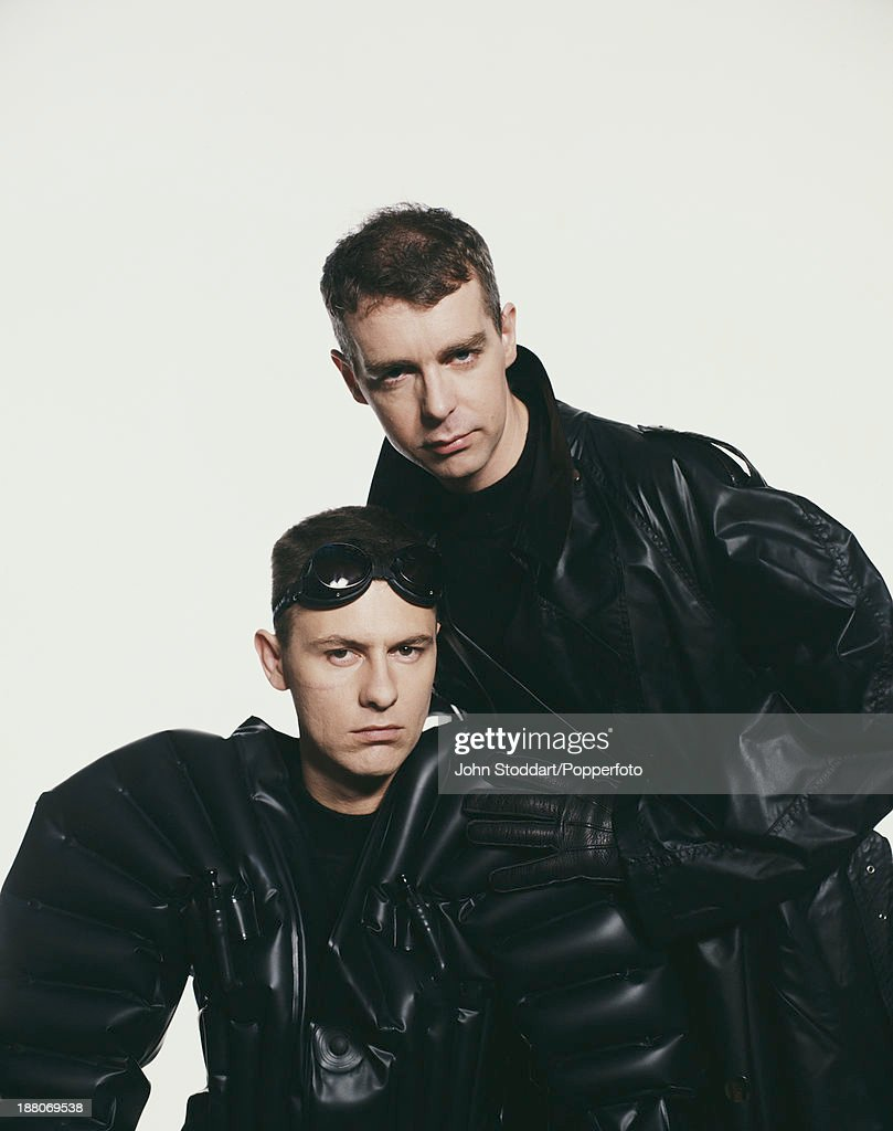 Singer Neil Tennant (right) and keyboard player Chris Lowe of English electronic dance music duo the Pet Shop Boys, circa 1989.