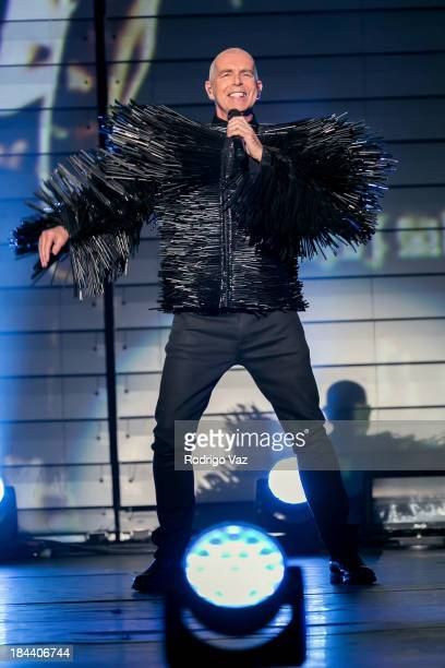 Singer Neil Tennant of Pet Shop Boys performs at The Shrine Auditorium on October 12 2013 in Los Angeles California