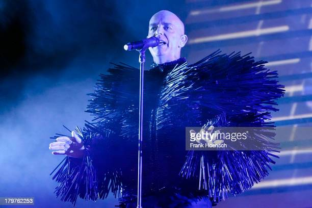 Singer Neil Tennant of Pet Shop Boys performs live during Berlin Festival Day 01 at the Flughafen Tempelhof on September 6 2013 in Berlin Germany