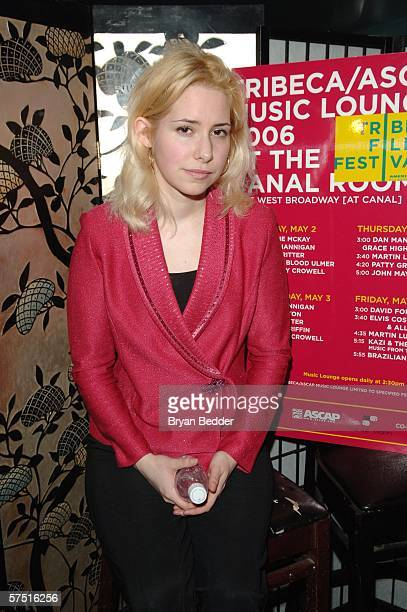Singer Nellie McKay poses at the Tribeca/ASCAP Music Lounge at Canal Room during the 5th Annual Tribeca Film Festival May 2 2006 in New York City