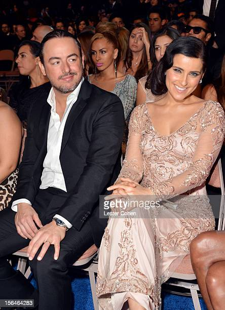 Singer Nelly Furtado and Demacio Castellon attends the 13th annual Latin GRAMMY Awards held at the Mandalay Bay Events Center on November 15 2012 in...