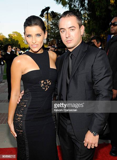 Singer Nelly Furtado and guest arrive at the 2009 ALMA Awards held at Royce Hall on September 17, 2009 in Los Angeles, California.