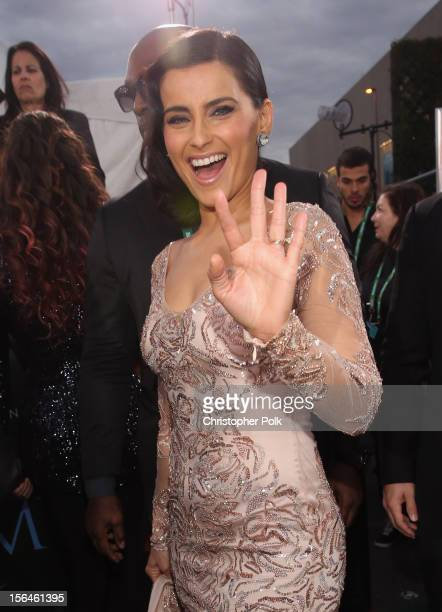 Singer Nelly Furtado arrives at the 13th annual Latin GRAMMY Awards held at the Mandalay Bay Events Center on November 15 2012 in Las Vegas Nevada