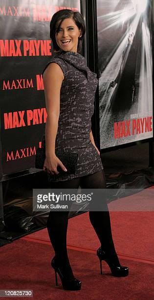 Singer Nelly Furtado arrives at the 'Max Payne' Los Angeles Premiere at the Mann's Grauman Chinese Theater on October 13 2008 in Hollywood California