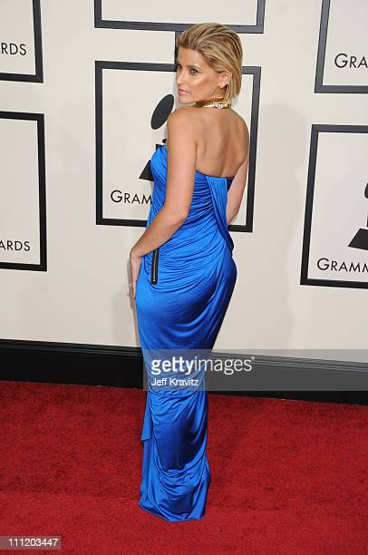 Singer Nelly Furtado arrives to the 50th Annual GRAMMY Awards at the Staples Center on February 10 2008 in Los Angeles California