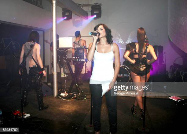 """Singer Nelly Furtado hosts Fritz Helder & the Phantoms: """"Platinum Edition"""" in Concert at the Red Bull Gallery Space on May 22, 2009 in Toronto,..."""