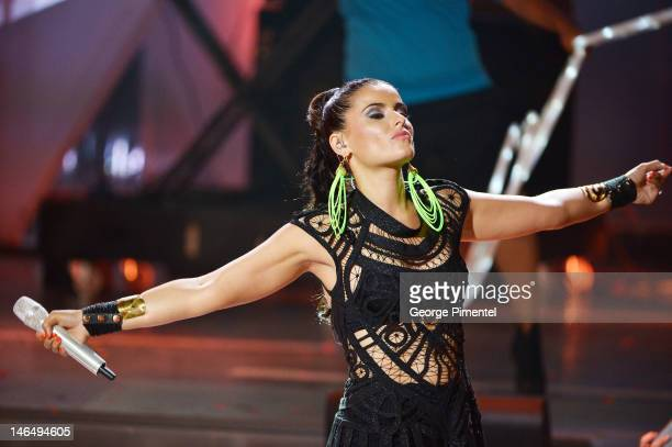 Singer Nelly Furtado perfoms at the 2012 MuchMusic Video Awards at MuchMusic HQ on June 17, 2012 in Toronto, Canada.