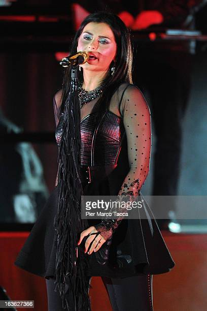 Singer Nelly Furtado performs on stage at Alcatraz on March 13 2013 in Milan Italy