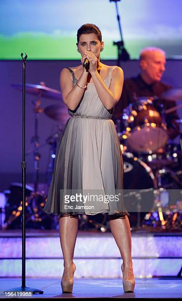 Singer Nelly Furtado performs onstage during the 2012 Latin Recording Academy Person Of The Year honoring Caetano Veloso at the MGM Grand Garden...