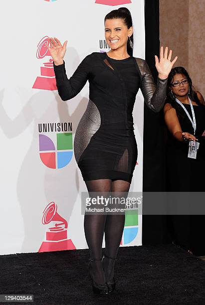 Singer Nelly Furtado poses in the press room at the 11th Annual Latin GRAMMY Awards held at the Mandalay Bay Resort Casino on November 11 2010 in Las...