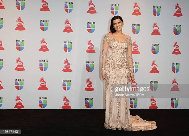 Singer Nelly Furtado poses in the press room during the 13th annual Latin GRAMMY Awards held at the Mandalay Bay Events Center on November 15 2012 in...