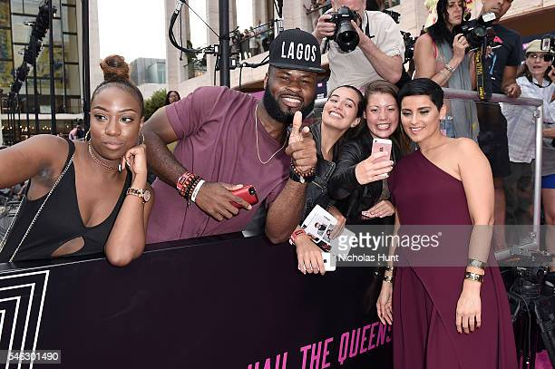 Singer Nelly Furtado takes a selfie with fans during the VH1 Hip Hop Honors All Hail The Queens at David Geffen Hall on July 11 2016 in New York City