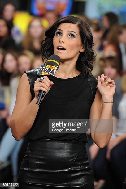 Singer Nelly Furtado visits MuchOnDemand at the MuchMusic HQ on May 26, 2009 in Toronto, Canada.