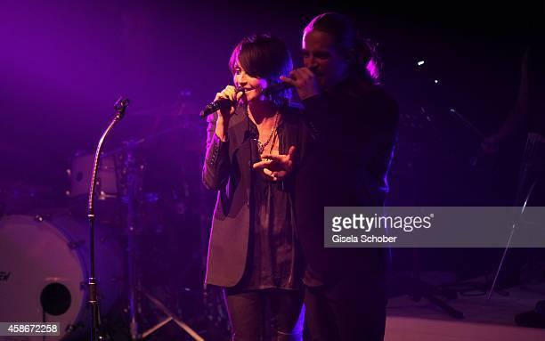 Singer Nena and her son Sakias Kerner during the 33 Deutscher Sportpresseball German Sports Media Ball 2014 at Alte Oper on November 08 2014 in...