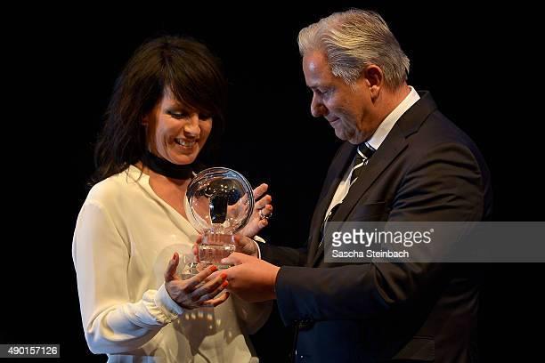 Singer Nena and Klaus Wowereit attend the 'Steiger Award 2015' at colliery Hansemann on September 26 2015 in Dortmund Germany