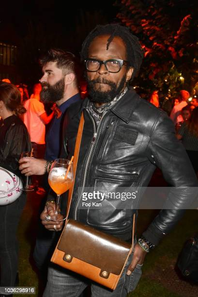 Singer Nene attends the Spritz Plazza Party at the 118 Warner on September 19 2018 in Paris France