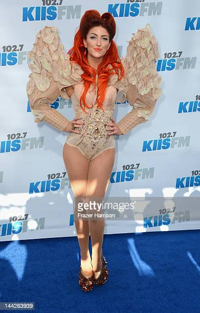 Singer Neon Hitch arrives at 1027 KIIS FM's Wango Tango at The Home Depot Center on May 12 2012 in Carson California
