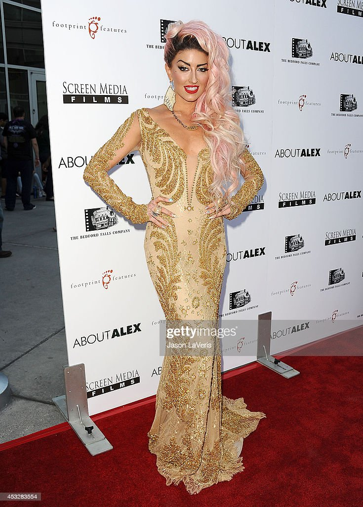 Singer Neon Hitch attends the premiere of 'About Alex' at ArcLight Hollywood on August 6, 2014 in Hollywood, California.