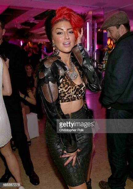 Singer Neon Hitch attends the Warner Music Group annual GRAMMY celebration on January 26 2014 in Los Angeles California