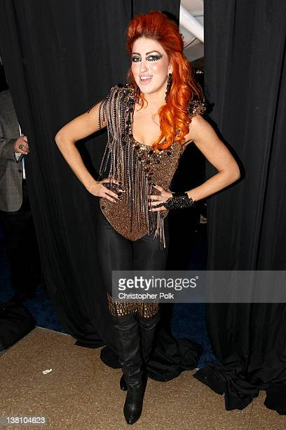 Singer Neon Hitch attends VH1's Super Bowl Fan Jam at Indiana State Fairgrounds Pepsi Coliseum on February 2 2012 in Indianapolis Indiana