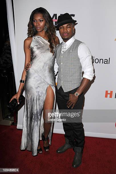 Singer NeYo and Jessica White arrive at the 52nd Annual GRAMMY Awards Salute To Icons Honoring Doug Morris held at The Beverly Hilton Hotel on...