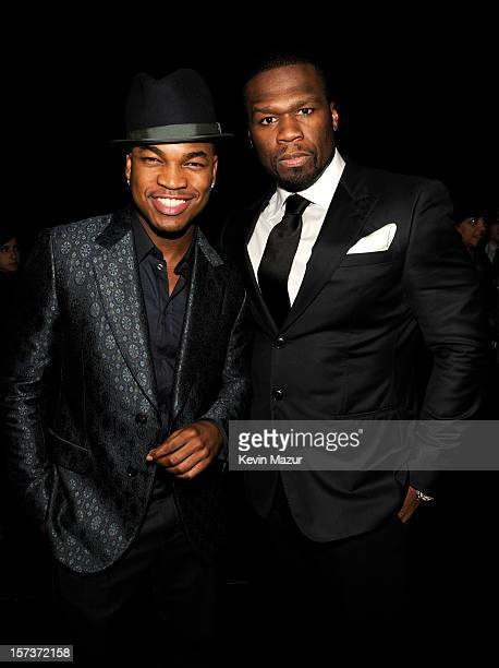 Singer NeYo and rapper 50 Cent attend the CNN Heroes An All Star Tribute at The Shrine Auditorium on December 2 2012 in Los Angeles California...