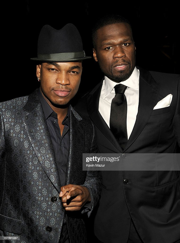 Singer Ne-Yo (L) and rapper 50 Cent (Curtis James Jackson III) attend the CNN Heroes: An All Star Tribute at The Shrine Auditorium on December 2, 2012 in Los Angeles, California. 23046_005_KM_0149.JPG