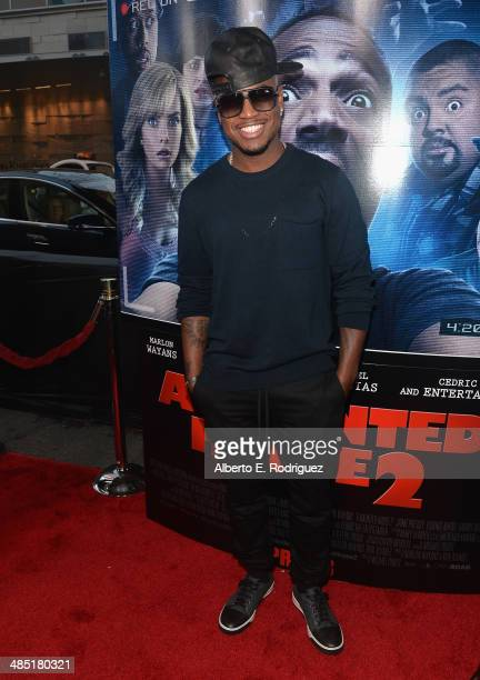 Singer NeYo arrives to the premiere of Open Road Films' 'A Haunted House 2' at Regal Cinemas LA Live on April 16 2014 in Los Angeles California