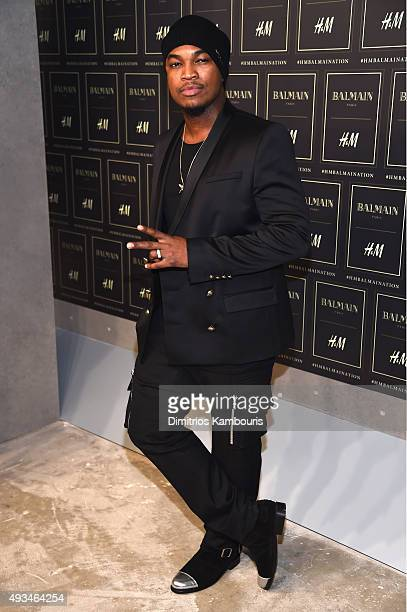 Singer NeYo attends the BALMAIN X HM Collection Launch at 23 Wall Street on October 20 2015 in New York City
